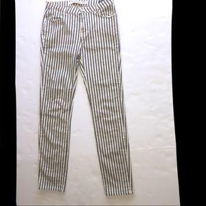 Zara Skinny Pinstriped Denim Pants. Size 4.